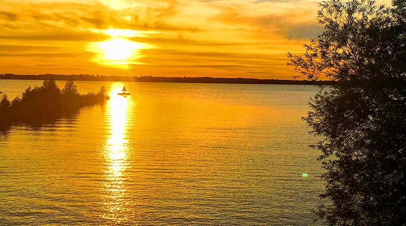 sunset at fenelon falls