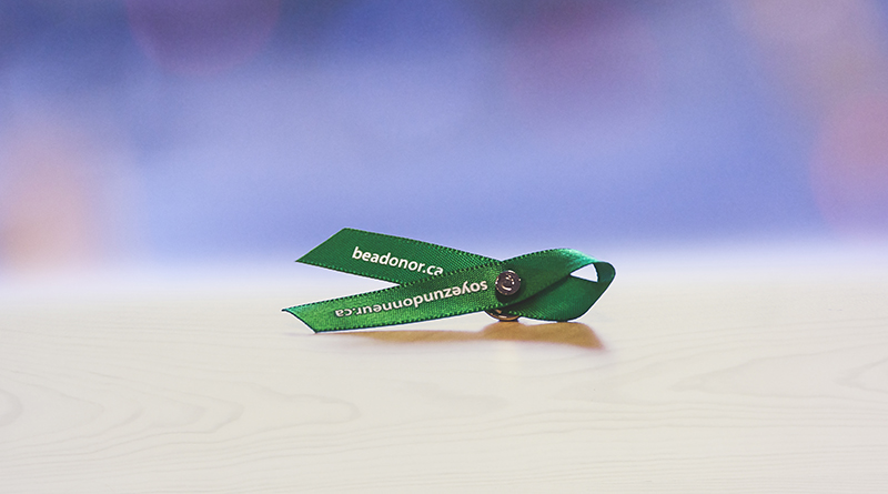 Green_Ribbon with lets be a donor