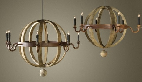 Wine Barrel Planet Chandelier Click For A Detailed View