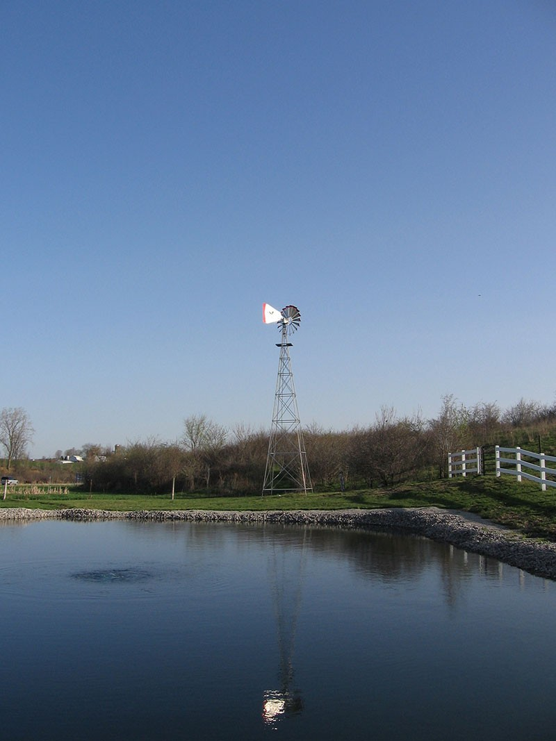 Windmill Pond Aerator Keeps Ponds Clean Healthy