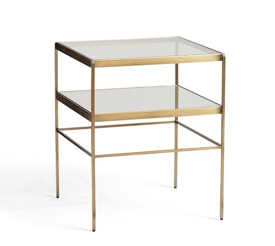 Accent Tables, Mercer Cube End Table