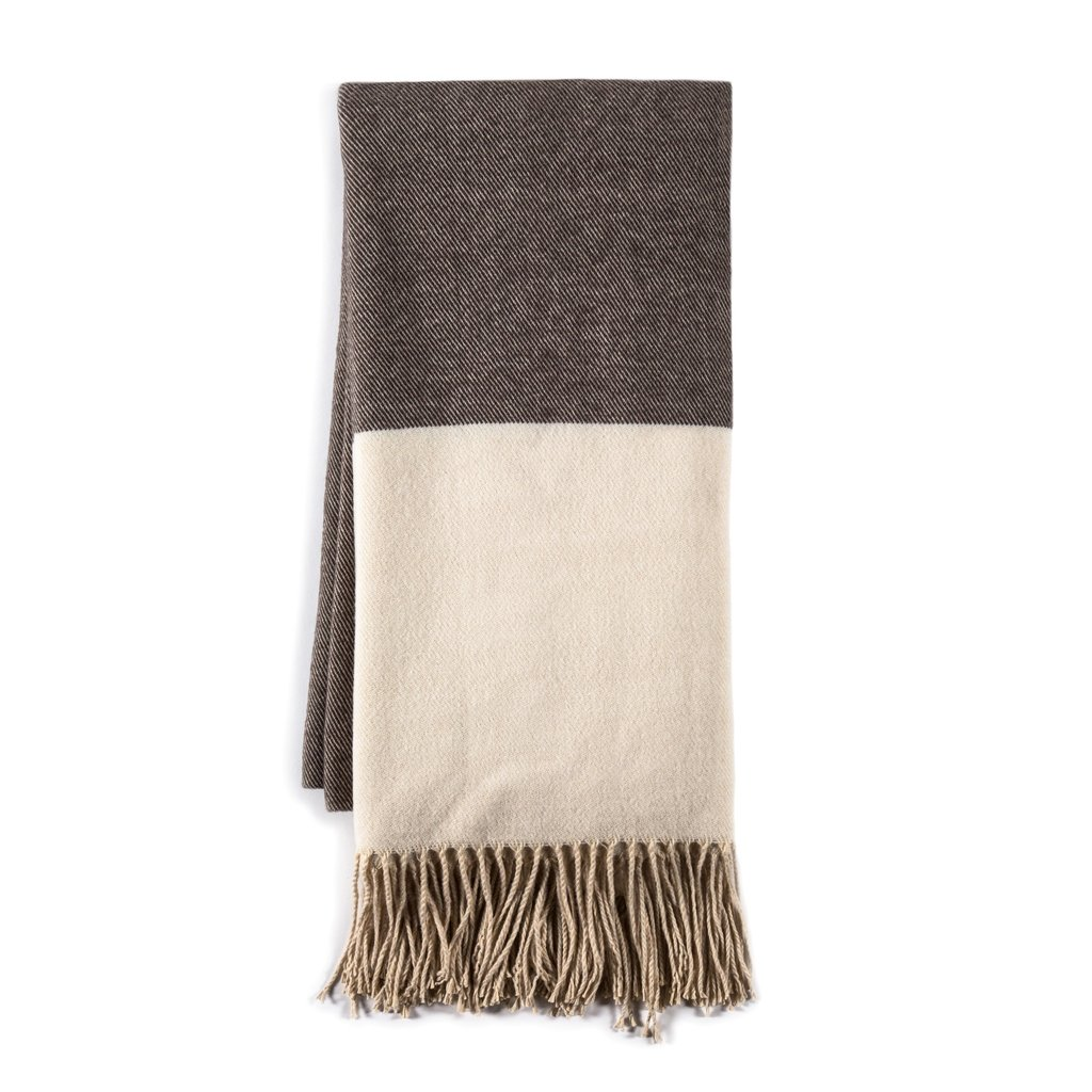Pillows + Throws + Rugs Montauk Throw - Grey/Cream