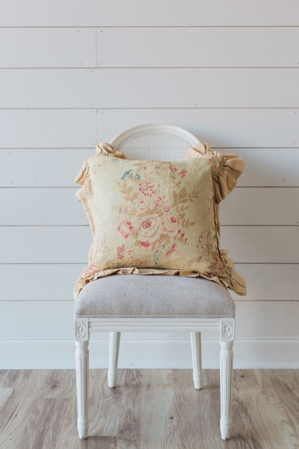 Pillows + Throws + Rugs, Cottage Floral Pillow