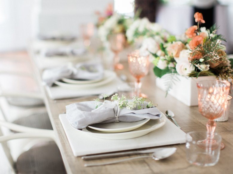 Bridal Pop Up Featuring Our Dishes example of tablescape
