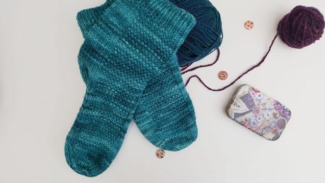 Rye Socks. Pattern by Tin Can Knits in Malabrigo Rios Teal Feather