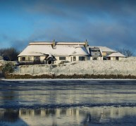The Cottages, dusted with snow