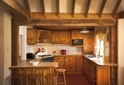 Little Orchard Cottage farm house style kitchen.