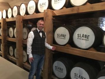 Barrels at the Slane Distillery
