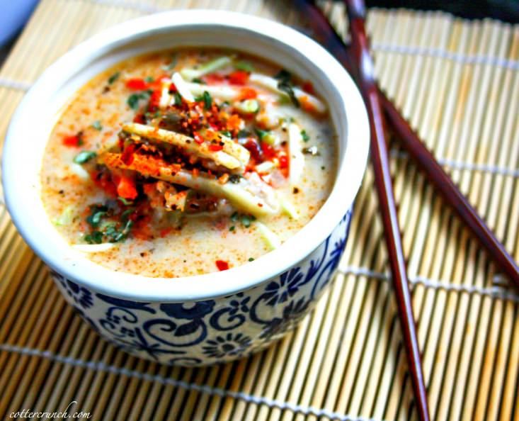Tasty Thai Coconut cabbage soup! Made with simple ingredients. This Paleo Thai soup is delicious and vegan friendly. -