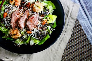 Spicy Surf and Turf Caesar Salad Recipe Plus Health Benefits of Cooking with Curry