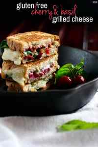 Recovery Cherry Basil Provolone Gluten free Grilled Cheese