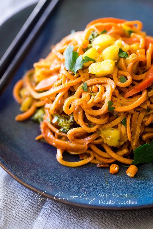 coconut-curry-sweet potato noodles (vegan/gf)