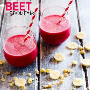 Tropical Beet smoothie with mac nut! A great endurance booster and paleo/vegan friendly! Not to mention healthy,creamy, delicious, and fruity! @cottercrunch
