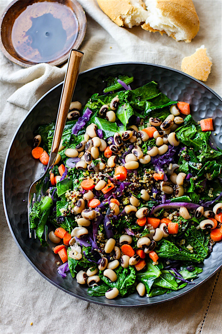 Vegan rainbow power greens salad with black eyed peas vegan rainbow power greens salad with black eyed peas a healthy gluten free power greens forumfinder Image collections