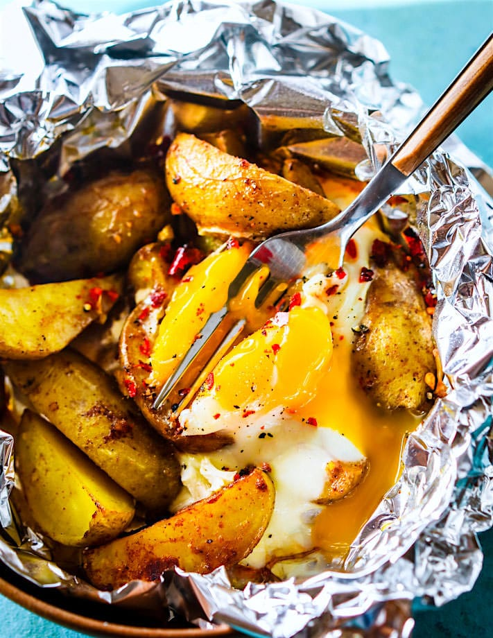 how to make jacket potato in foil