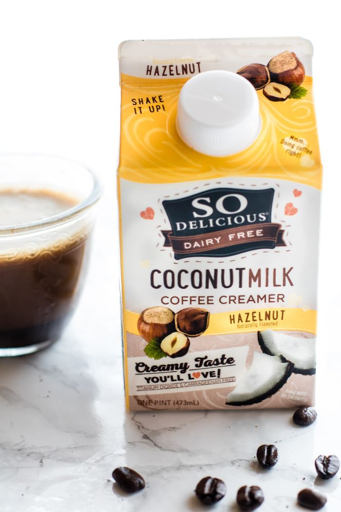 SO Delicious brand dairy free coconut milk coffee creamer