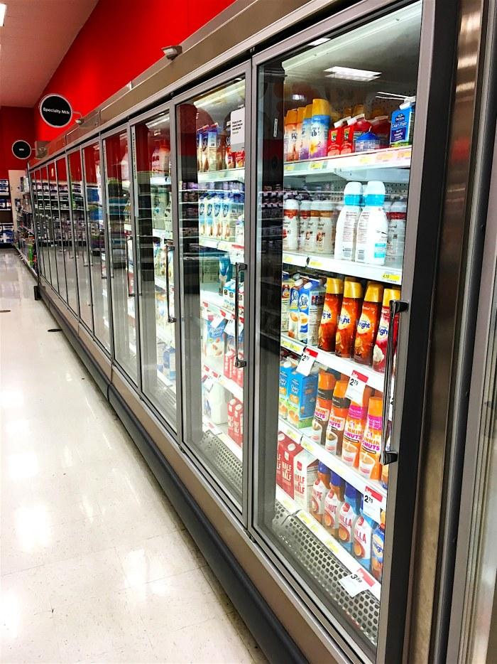 Refrigerated food cooler at Target