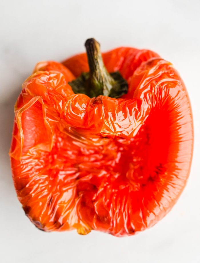 whole roasted red bell pepper