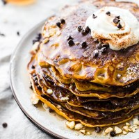 Flourless Carrot Cake Yogurt Pancakes