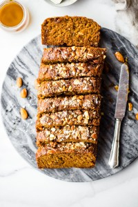 Maple Almond Earl Grey Tea Cake Loaf {Vegan, GF}