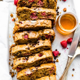 Gluten Free Chocolate Raspberry Pancake Bread