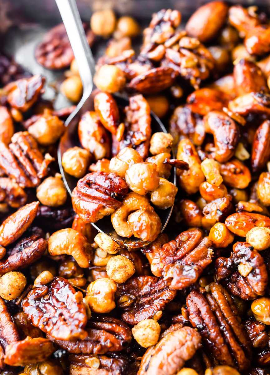 Instant Pot Candied Chickpea Cajun Trail Mix