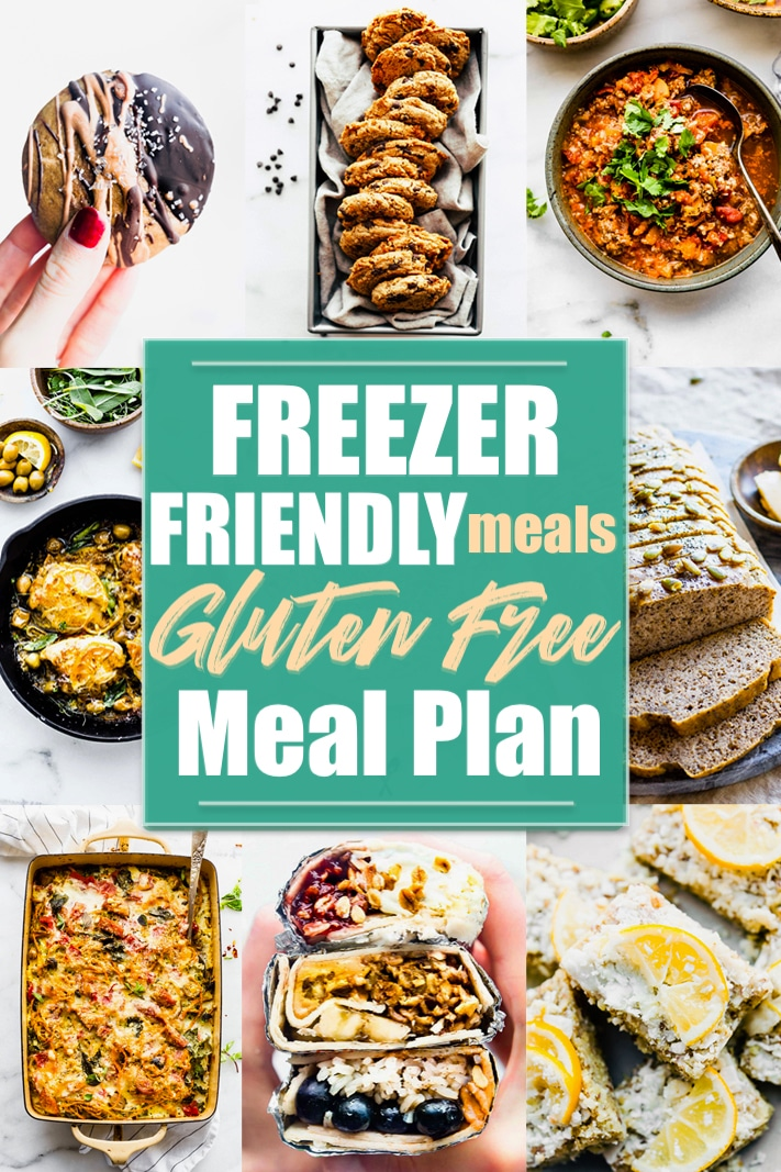 Freezer friendly meals that are part of a gluten free meal plan.