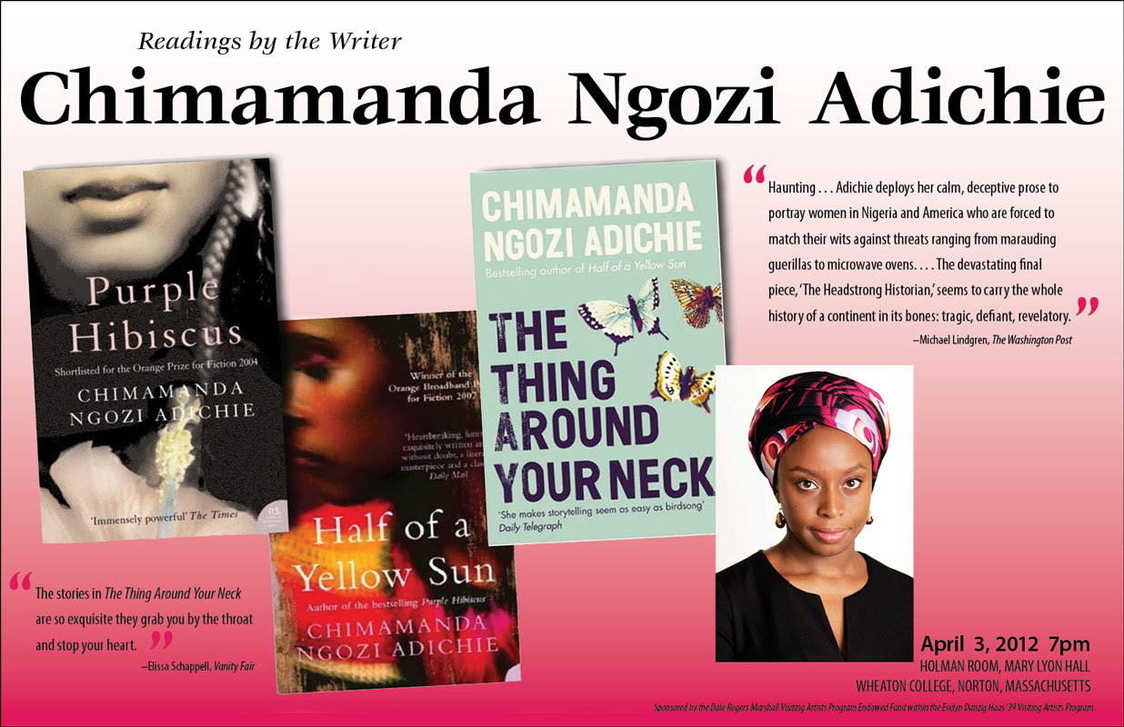 Les premiers livres de Chimamanda Ngozi Adichie (photo prise ici)