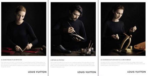 Campagne savoir-faire Louis Vuitton 2010 Source: signature9.com