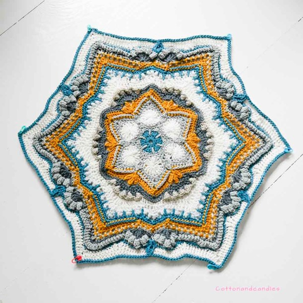 Cosmic Cal part 1 finished, cottonandcandles.com