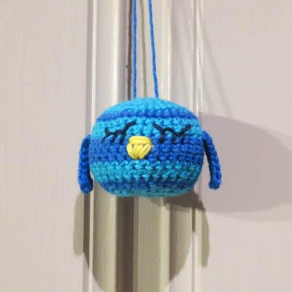 Julekule: Lille fuglen - Turkis/blå