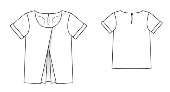 Burda 05/2016 #101 silke bluse mønster