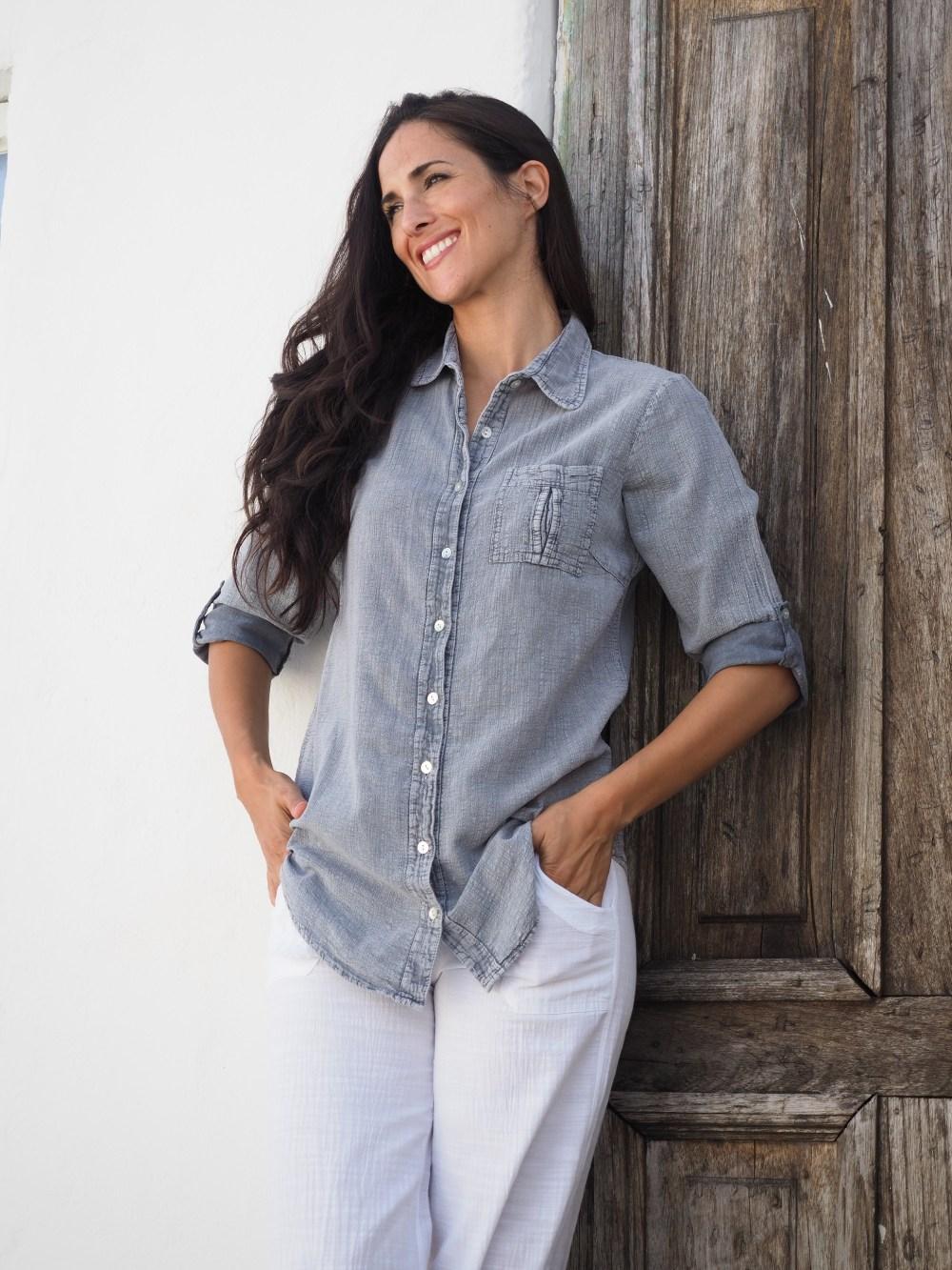 Kate Fossil Gray Shirt