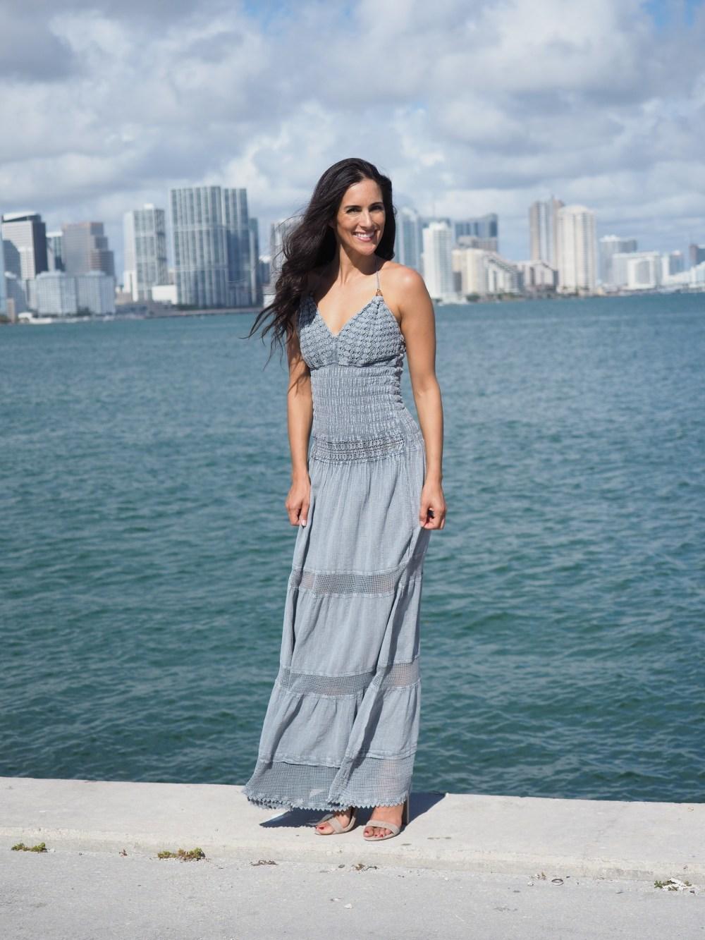 Hampton Fossil Gray Dress