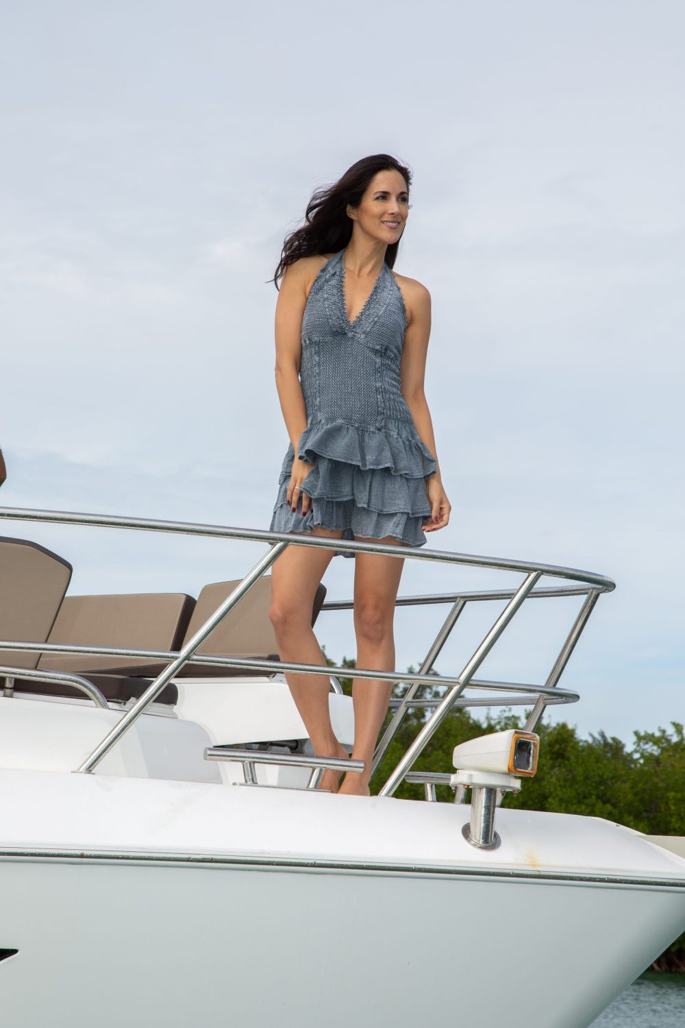 Leeward Fossil Gray Dress