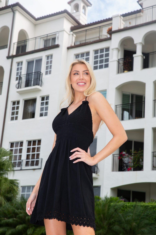 Martinique Black Line Dress