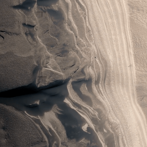 A Fictive Flight Above Real Mars