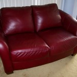 2018 Burgundy Leather Sofas Warm And Inviting Living Room
