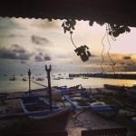 Jimbaran Beach devant le marché de poissons