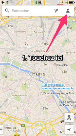Utiliser Google Map sans connexion