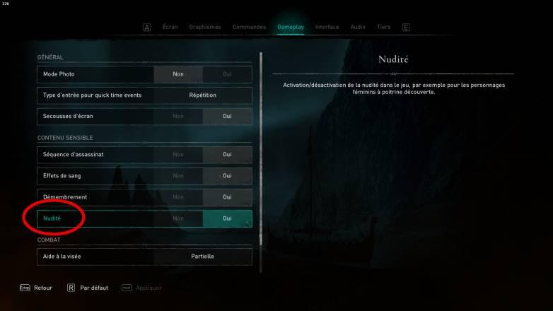 Activer la nudité dans Assassin's Creed Valhalla