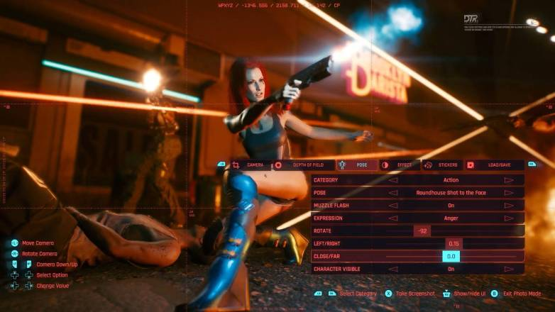 Mode photo dans Cyberpunk 2077 - Cameltoe
