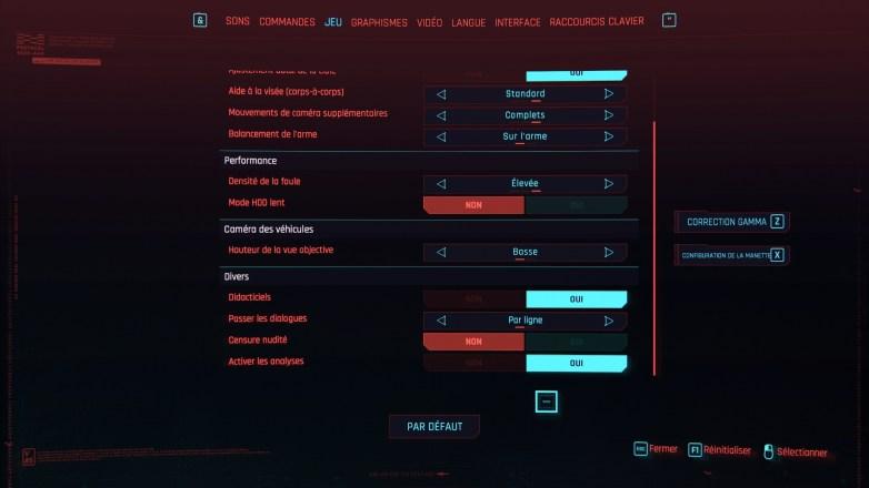 Personnalisation du personnage Cyberpunk 2077 02