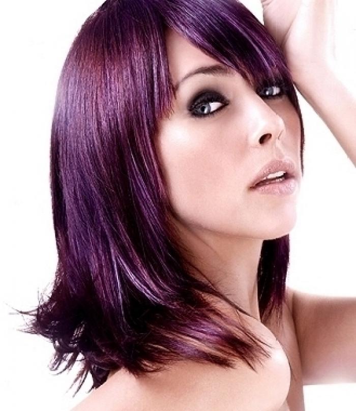"""Résultat de recherche d'images pour """"cheveux brun avec reflets violines"""""""