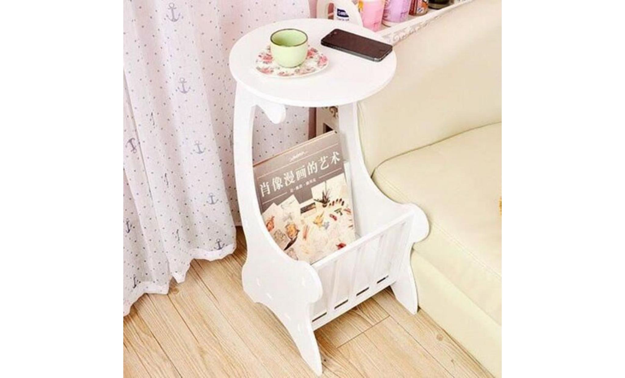 2pcs table basse support de fleurs modern design 34 x 22 x 59 5 cm blanc achat vente table basse pas cher couleur et design fr