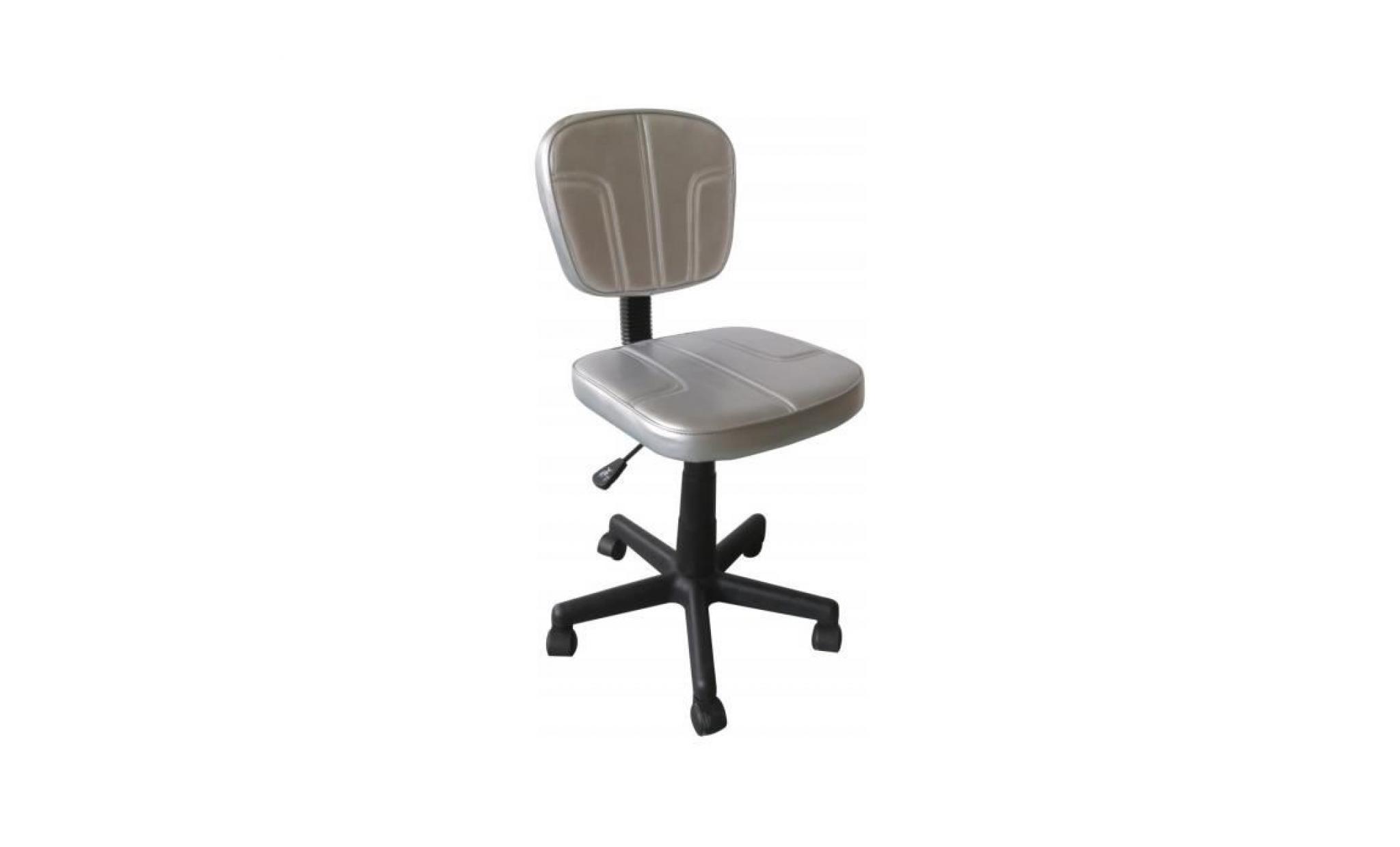 chaise enfant 75 cm reglable en hauteur en pu coloris argent avec pietement en polypropylene p 41999 co argente achat vente fauteuil de bureau pas cher couleur et design fr