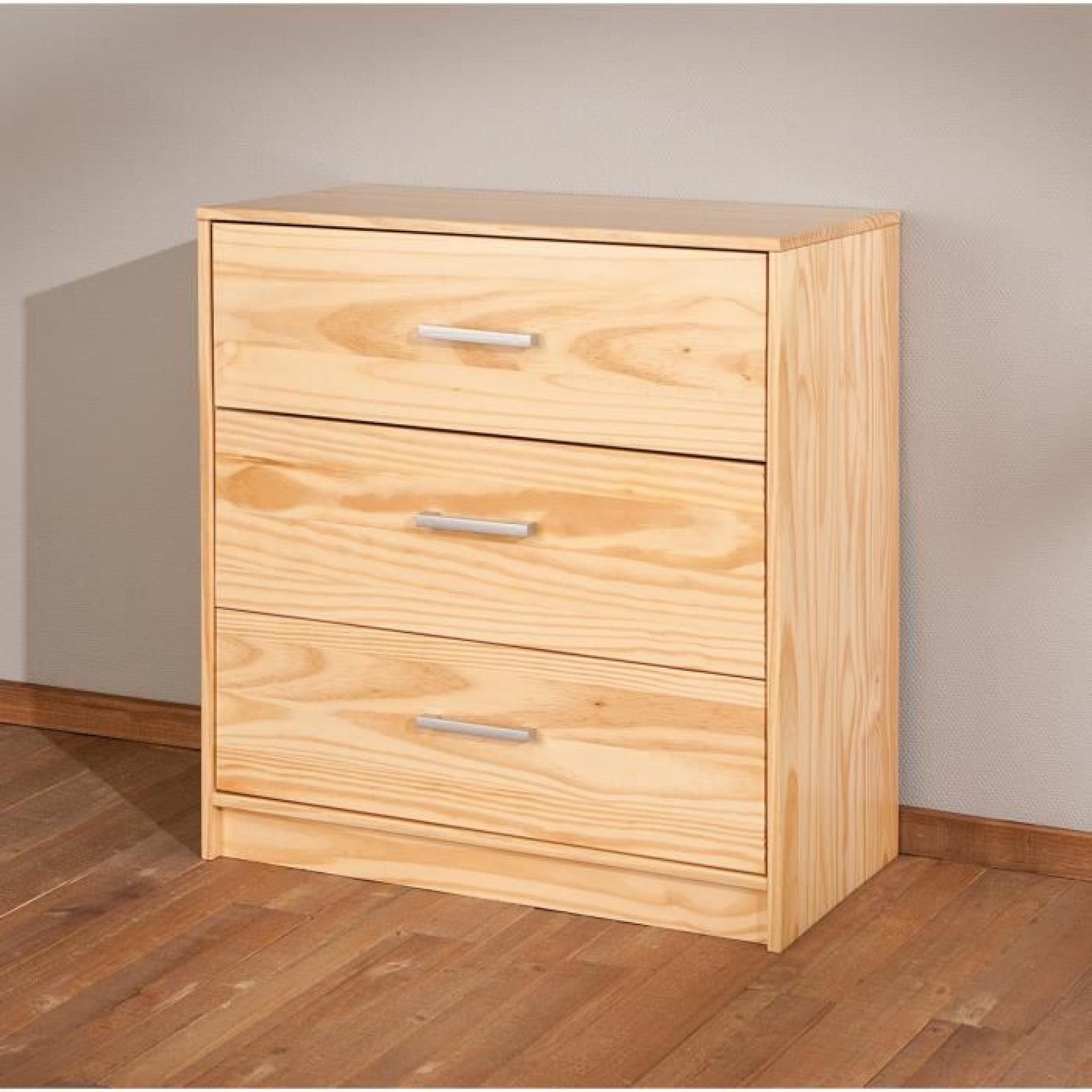 commode a 3 tiroirs en bois pin massif achat vente commode pas cher couleur et design fr