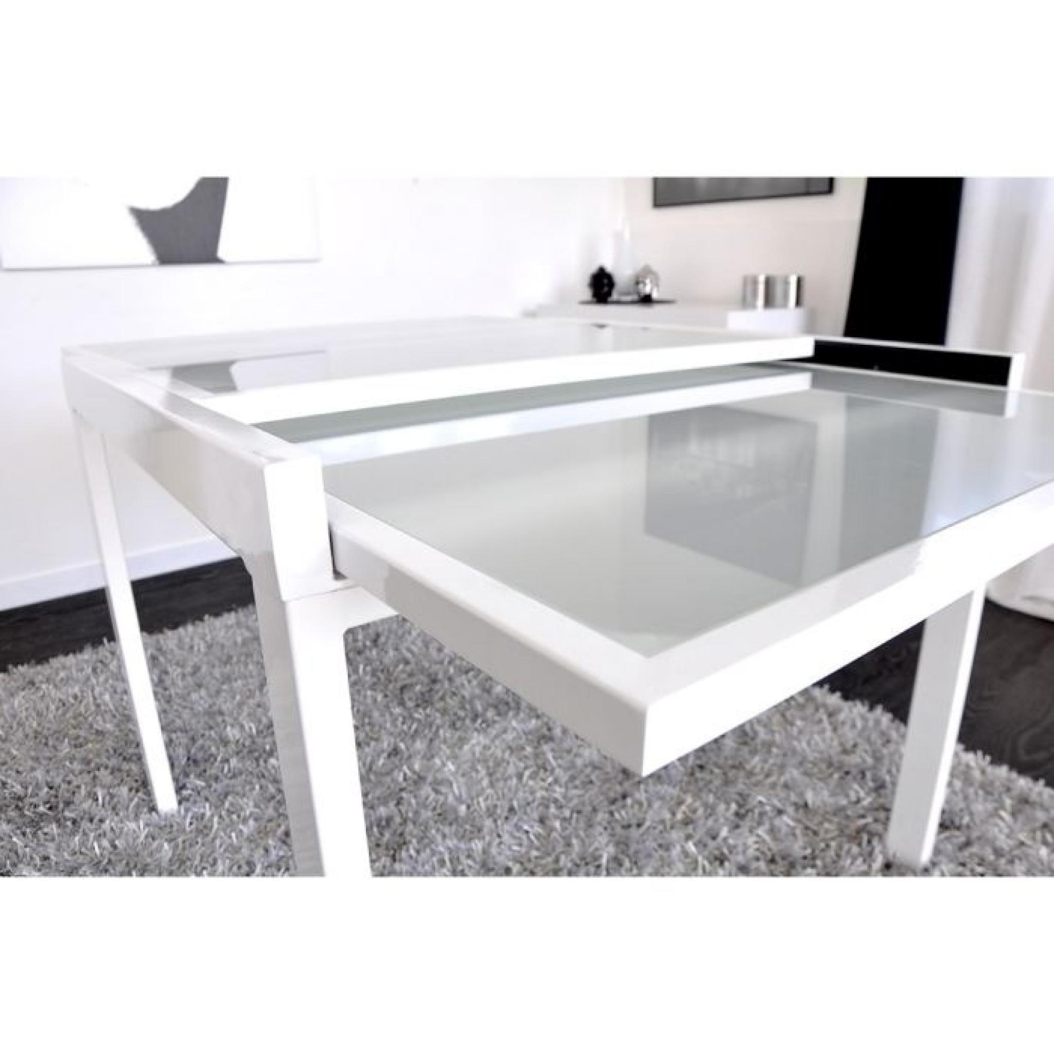 Extend Table Extensible Blanche 90 180cm Achat Vente Table Salle A Manger Pas Cher Couleur Et Design Fr