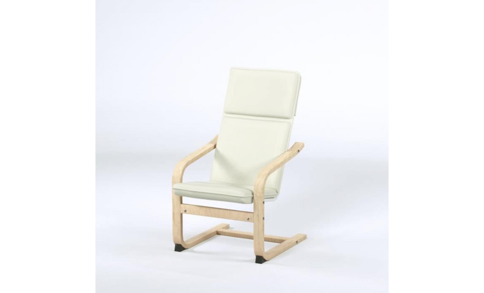 fauteuil de relaxation enfant en metal noir et pieds bouleau massif tissu beige contemporain l 44 x p 47 cm achat vente fauteuil pas cher couleur et design fr