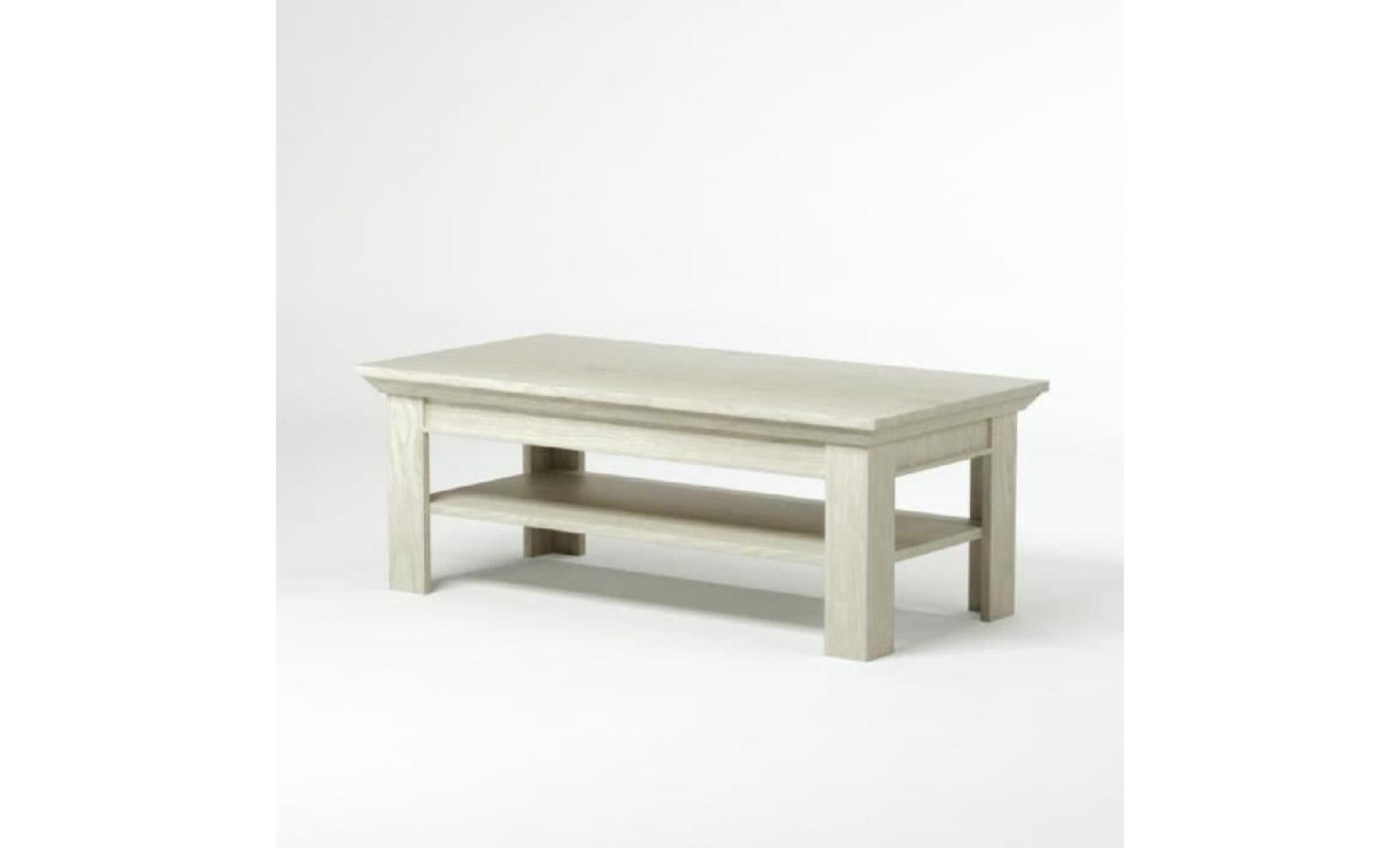 kashmir table basse classique decor pin blanc mat l 120 x l 60 cm achat vente table basse pas cher couleur et design fr